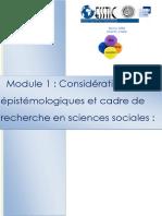 MOD.1 Recherche Et Considerations Epistemologiques