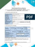 Guía Unidad 1, Tarea 2. Creación de protocolos