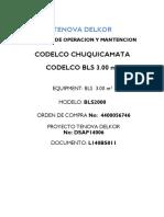 Harnero filtros manual de operaciones y mantenimiento Rev. 0 Parte 1 de 3