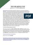 Tuczon Hearings Not