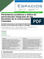 Parámetros acústicos e índice de