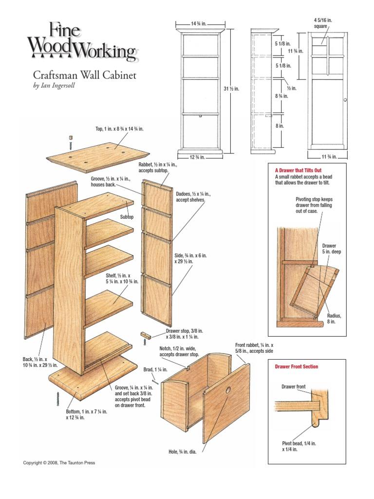 Arts And Crafts Cabinet Plan Door Decorative Arts