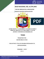 Estrés Infantil y el rendimiento académico en niños y niñas de 4 años de la I.E.I Cuna Jardín No. 264 del distrito y provincia de Urubamba-2015