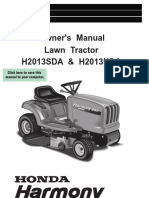 User manual tractor H2013