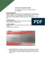 4ero CRITERIOS PARA LA CLASIFICACION DE PALABRAS[385]