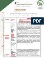 ACTIVIDAD ARTICULO DE OPINION COMPRENSION sesion 11