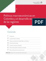 08 POLITICAS MACRO ECONOMICAS EN COLOMBIA Y EL DESARROLLO ECONOMICO DE LAS REGIONES