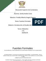 Fuentes Formales Yane
