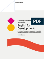 English for Development A review of research into the role of English as a driver for socio-economic development_Brooker