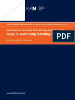 Explorations Teaching and Learning English in India Issue 2 Assessing learning_British Council