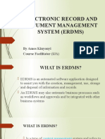 2 - ELECTRONIC RECORD AND DOCUMENT MANAGEMENT SYSTEM (EDMS)