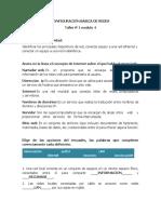 TALLER 1- CONFIGURACIÓN BÁSICA DE REDES