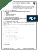 Cuestionario sobre las contribuciones CFF