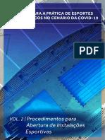 Volume  2 – Procedimentos para abertura de instalações esportivas