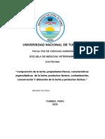 Bromatologia-trabajo-propiedades de La Leche