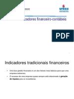 AD - Demonstrativos - Indicadores financeiro-contábeis