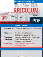 7 The Teacher as a Knower of Curriculum - Lesson 4