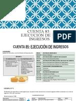 DINAMICA DE LA CUENTA 85