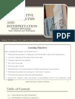 C11 - QUANTITATIVE DATA ANALYSIS AND INTERPRETATION