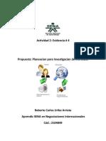 Actividad 2 Evidencia 4 Planeacion para investigacion de mercados