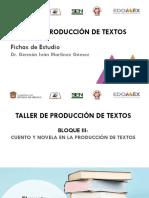 FICHAS DE ESTUDIO. TALLER DE PRODUCCIÓN DE TEXTOS 5