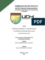 tesis planeacion financiera y la rentabiliad en cooperativa cacao alto huallaga