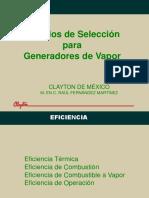 Criterios de Selección Vapor (Ecuador)2 Clayton Capacitacion Ing Raul Fernandez