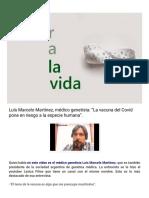 """En el Amor de la Vida_ Luís Marcelo Martínez, médico genetista_ """"La vacuna del Covid pone en riesgo a la especie humana""""."""