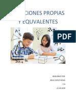 Fracciones Propias y Equivalentes - Raul Espejo - 5A