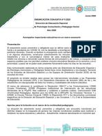 COMUNICACIÓN CONJUNTA 1-2020 PCyPS EDUC ESPECIAL