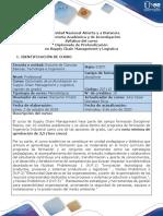 Syllabus del curso Diplomado de Profundización Supply Chain Management y Logística.