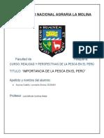 Importancia de la Pesca en el Perú