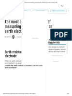 The most common methods of measuring the resistance of an earth electrode _ EEP