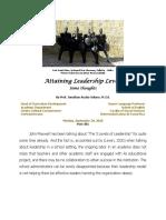 Attaining Leadership Levels
