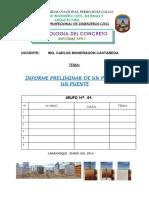 Informe N° 1 - Pilar de un Puente