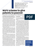 WIPO Scheme to Give Patents to Poorest
