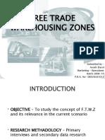 Free Trade Warehousing Zones