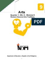 arts9_q1_mod6_Western Classical Art Traditions_v3.docx
