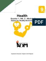 health9_q1_mod2_Impact of a Healthy Environment_v3