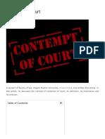 Contempt of Court - iPleaders