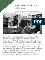 Walter Benjamin y el destino de una época   Nueva +