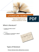 LLLITERATURE SEARCHING by Prof. Tony