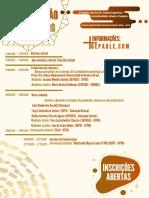 Colóquio sobre escrita, variação linguística e interculturalidade programação e regulamento