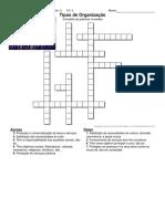 crossword-Tipos de Organização