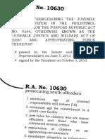 Presentation CLE Juvenile Justice Law
