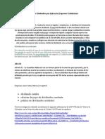 Políticas de Dividendos que Aplican las Empresas Colombianas