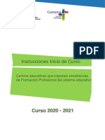 INSTRUCCIONES INICIO CURSO FP 20-21