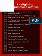 Fire Equipment, Clothing
