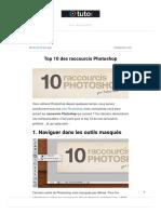 Top 10 des raccourcis Photoshop – Blog Tuto.com