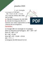 2020-09-22 4G correction exercices Pythagore - v3
